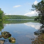 Stunning lakeside views on the Appalachian Trail